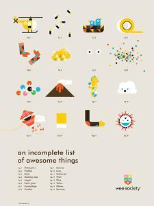 You Know What's Awesome? List (Gray) by Wee Society