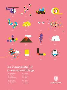 You Know What's Awesome? List (Pink) by Wee Society