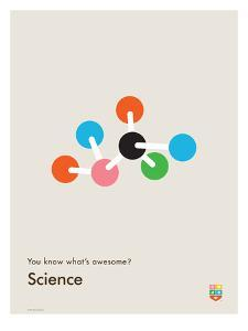 You Know What's Awesome? Science (Gray) by Wee Society