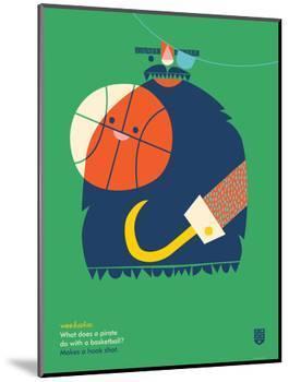 WeeHeeHee, Hook Shot-Wee Society-Mounted Premium Giclee Print