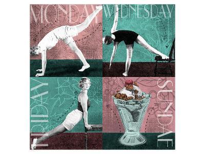 Weekly Workout: Monday, Wednesday, Friday, Sundae--Art Print