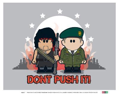 Weenicons: Don't Push It!--Art Print