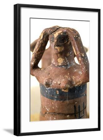 Weeping Statue in Mourning, Valley of Golden Mummies, Giza, Egypt, Detail--Framed Giclee Print