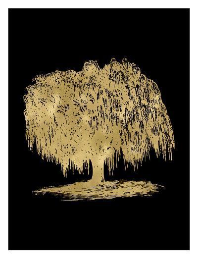 Weeping Willow Tree Golden Black-Amy Brinkman-Art Print