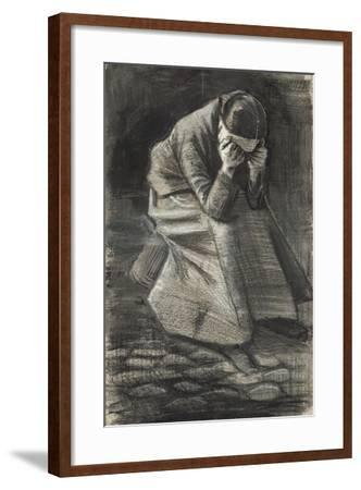 Weeping Woman, 1883-Vincent van Gogh-Framed Giclee Print