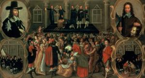 An Eyewitness Representation of the Execution of King Charles I (1600-49) of England, 1649 by Weesop