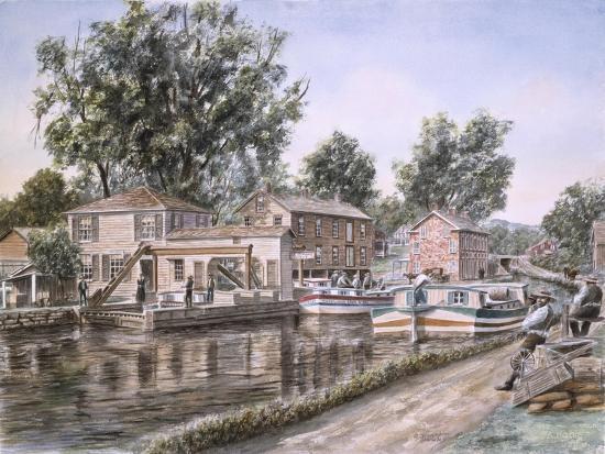 Weigh Locks On Penn Canal-Stanton Manolakas-Giclee Print