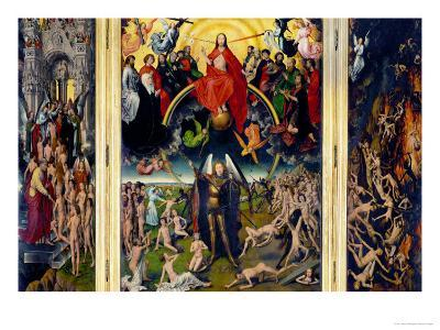 Weighing of the Souls, Triptych of the Last Judgment-Hans Memling-Giclee Print