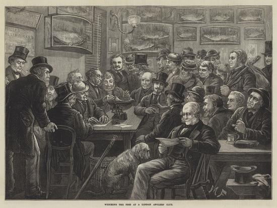 Weighing the Fish at a London Anglers' Club--Giclee Print