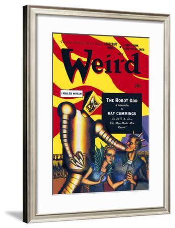 Weird Magazine: Man-Made Men Revolt--Framed Art Print