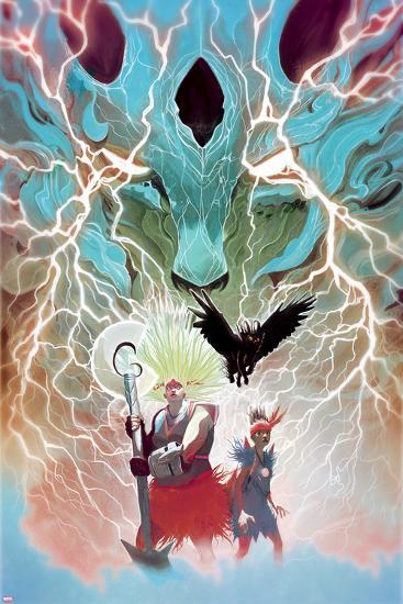 Weirdworld No. 5 Cover Featuring: Ogeode the Catbeast, Goleta the Wizardslayer, Becca the Earthgirl-Mike Del Mundo-Art Print