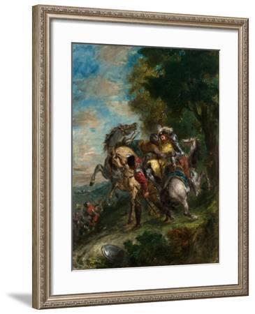 Weislingen Captured by Gotz's Men, 1853-Eugene Delacroix-Framed Giclee Print