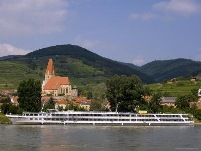 Weissenkirchen Pfarrkirche and Vineyards, Wachau, UNESCO World Heritage Site, Lower Austria-Charles Bowman-Photographic Print