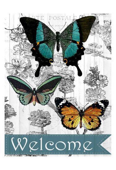 Welcome Butterflies-Kimberly Allen-Art Print