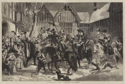 Welcome Guests at Mardon Hall-Sir John Gilbert-Giclee Print