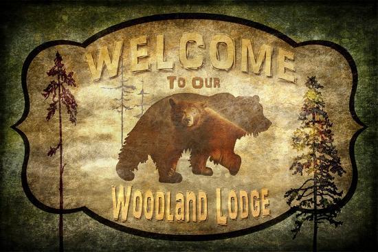 Welcome Lodge Bear-LightBoxJournal-Giclee Print