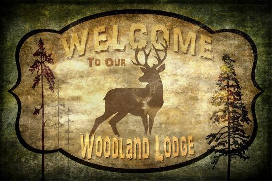 Welcome Lodge Deer-LightBoxJournal-Giclee Print