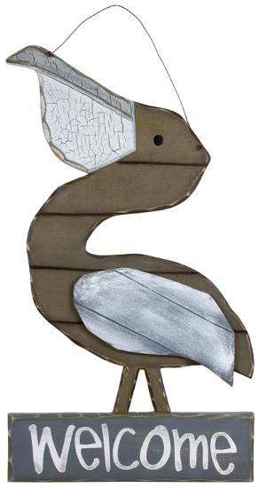 Welcome Pelican--Wood Sign