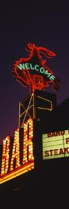 Welcome Sign of a Bar, Million Dollar Cowboy Bar, Jackson, Jackson Hole, Teton County, Wyoming, USA