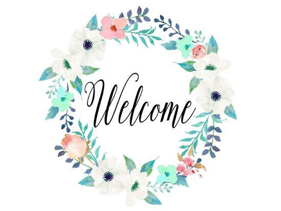 Welcome Teal and Pink-Tara Moss-Premium Giclee Print