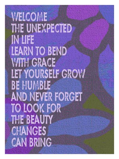 Welcome The Unexpected In Life-Lisa Weedn-Giclee Print