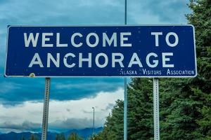 Welcome to Anchorage, Alaska Road Sign