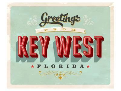 Welcome To Key West--Art Print