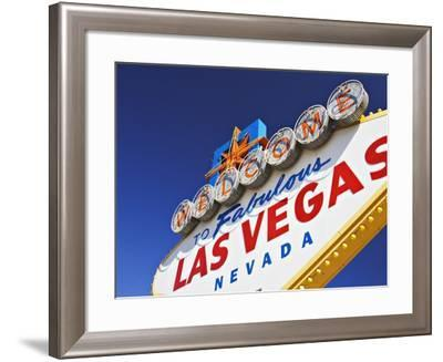Welcome to Las Vegas Sign-William Manning-Framed Photographic Print