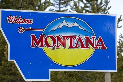 Welcome to Montana Sign-Paul Souders-Photographic Print