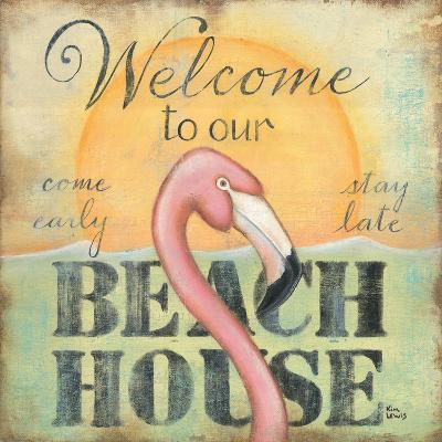 Welcome to Our Beach House-Kim Lewis-Art Print