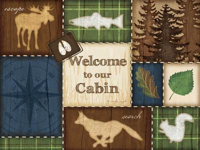 Welcome to Our Cabin-Jennifer Pugh-Art Print