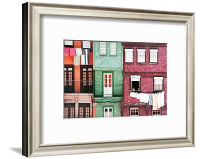 Welcome to Portugal Collection - Beautiful Colorful Traditional Facades VI-Philippe Hugonnard-Framed Photographic Print