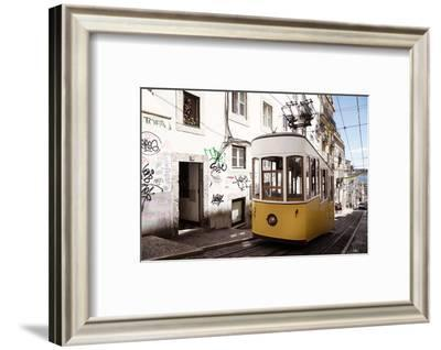 Welcome to Portugal Collection - Bica Elevator Yellow Tram in Lisbon II-Philippe Hugonnard-Framed Photographic Print