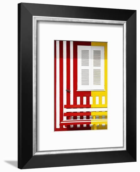 Welcome to Portugal Collection - Colorful Facade with Red and Yellow Stripes-Philippe Hugonnard-Framed Photographic Print