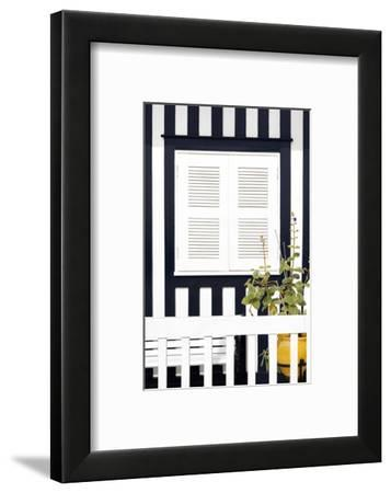 Welcome to Portugal Collection - House Facade with Navy Blue Stripes-Philippe Hugonnard-Framed Photographic Print