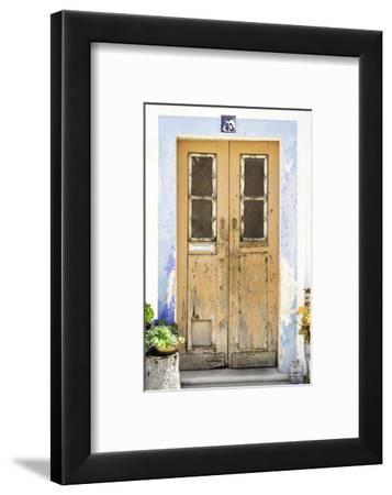 Welcome to Portugal Collection - Old Dark Yellow Front Door-Philippe Hugonnard-Framed Photographic Print