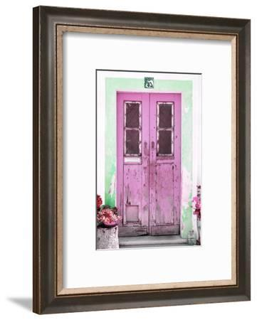 Welcome to Portugal Collection - Old Pink Door-Philippe Hugonnard-Framed Photographic Print