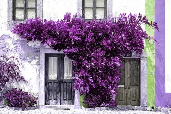 Welcome to Portugal Collection - Old Portuguese House facade with Purple Colors-Philippe Hugonnard-Photographic Print