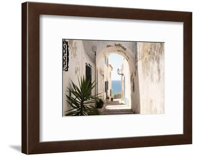 Welcome to Portugal Collection - Old Village Street in Faro II-Philippe Hugonnard-Framed Photographic Print