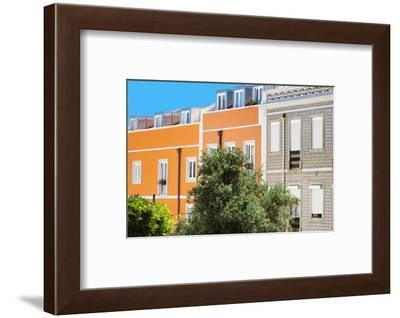 Welcome to Portugal Collection - Orange Facade Lisbon-Philippe Hugonnard-Framed Photographic Print