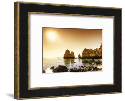 Welcome to Portugal Collection - Praia do Camilo at Sunset-Philippe Hugonnard-Framed Photographic Print