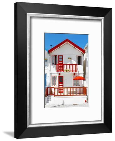 Welcome to Portugal Collection - White House Costa Nova-Philippe Hugonnard-Framed Photographic Print