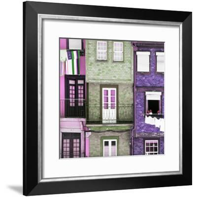 Welcome to Portugal Square Collection - Beautiful Colorful Traditional Facades III-Philippe Hugonnard-Framed Photographic Print