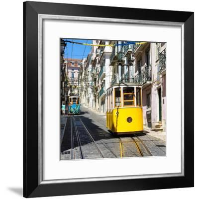 Welcome to Portugal Square Collection - Elevator Da Bica Lisbon-Philippe Hugonnard-Framed Photographic Print