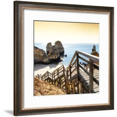 Welcome to Portugal Square Collection - End of the day at the beach-Philippe Hugonnard-Framed Photographic Print