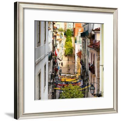 Welcome to Portugal Square Collection - Funicular Street in Bica Lisbon-Philippe Hugonnard-Framed Photographic Print