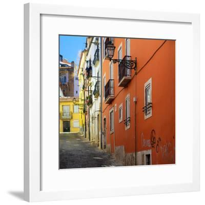 Welcome to Portugal Square Collection - Lisbon Colorful Facades-Philippe Hugonnard-Framed Photographic Print