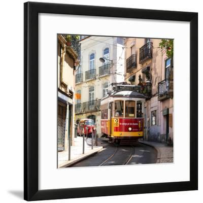 Welcome to Portugal Square Collection - Prazeres 28 Lisbon Tram-Philippe Hugonnard-Framed Photographic Print