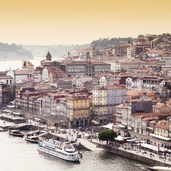 Welcome to Portugal Square Collection - Ribeira View at Sunset - Porto-Philippe Hugonnard-Photographic Print