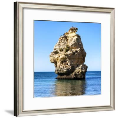 Welcome to Portugal Square Collection - Rocks at Praia da Marinha Beach-Philippe Hugonnard-Framed Photographic Print